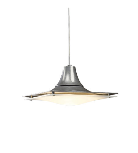 Hubbardton Forge 161120-Skt-Stnd-82 1 Light Hood Low Voltage Mini Pendant In Vintage Platinum