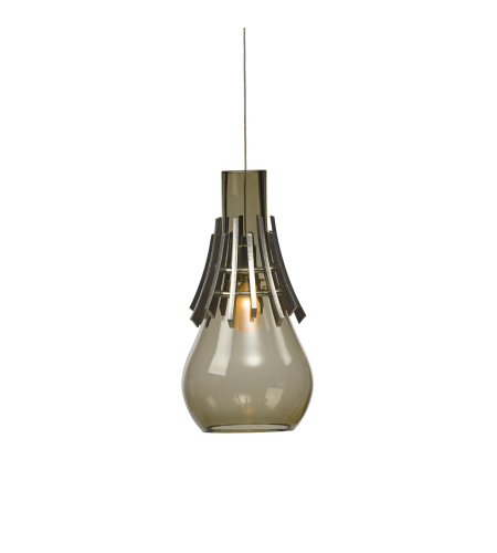 Hubbardton Forge 161160-Skt-Stnd-82-Yk0487 1 Light Colette Low Voltage Mini Pendant Warm Grey Glass In Vintage Platinum