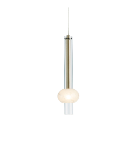 Hubbardton Forge 161301-Skt-Stnd-03 1 Light Martini Low Voltage Mini Pendant Clear Glass In Mahogany