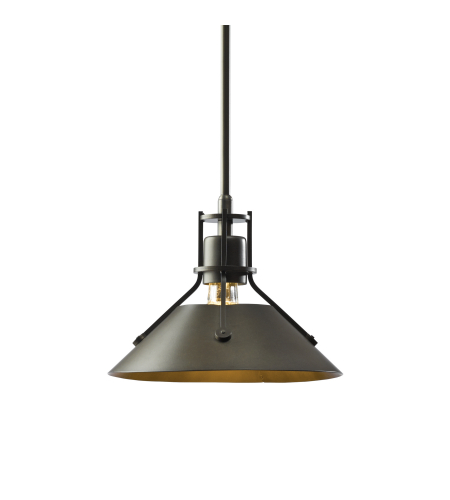 Hubbardton Forge 184250-Skt-Long-03 1 Light Henry Mini Pendant In Mahogany