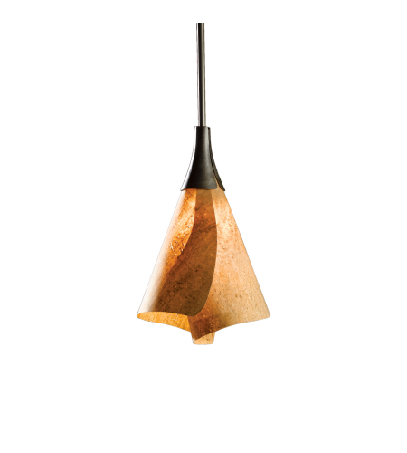 Hubbardton Forge 184530-Skt-Long-03-Sg1987 1 Light Mobius Mini Pendant In Mahogany