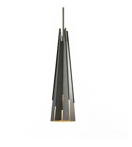 Hubbardton Forge 185100-Skt-Long-03 1 Light Finn Mini Pendant In Mahogany