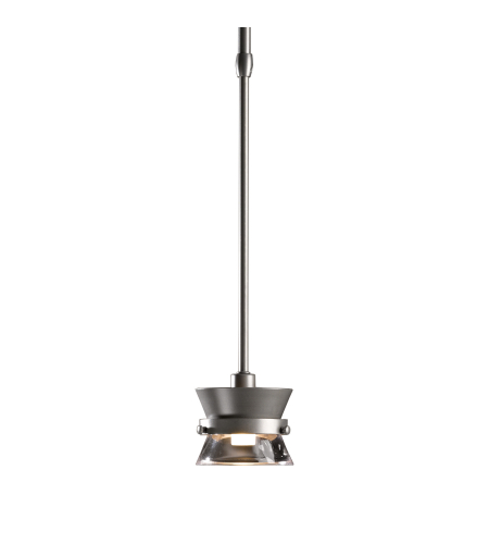 Hubbardton Forge 187250-Skt-Long-03-Zm0378 1 Light Apparatus Mini Pendant Clear Glass In Mahogany