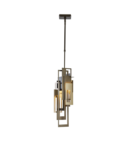 Hubbardton Forge 188800-Skt-Long-03-03 1 Light Collage Mini Pendant In Mahogany