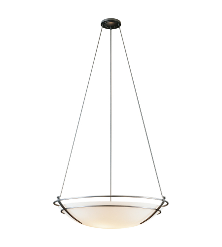 Hubbardton Forge 194436-Skt-03-Gg0033 6 Light Presidio Tryne Large Scale Pendant Opal Glass In Mahogany