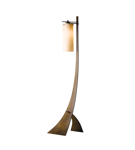 Hubbardton Forge 232665-Led-03-Gg0109 1 Light Stasis Floor Lamp Opal Glass In Mahogany
