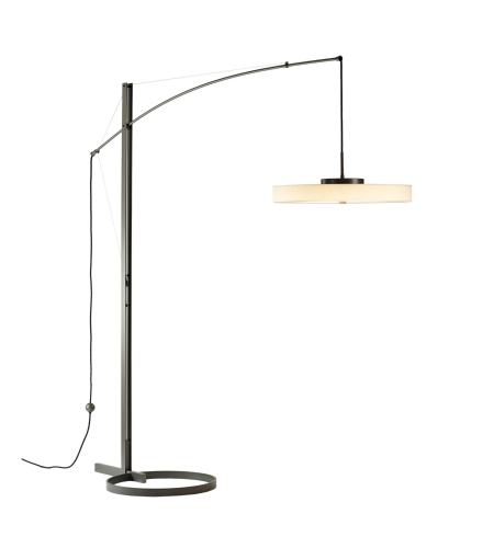 Hubbardton Forge 234510-Led-01-Sg1970 Light Disq Arc Led Floor Lamp In Gloss White