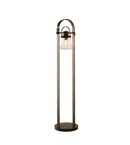 Hubbardton Forge 247810-Led-03-Zm0467 1 Light Erlenmeyer Floor Lamp Clear Glass In Mahogany