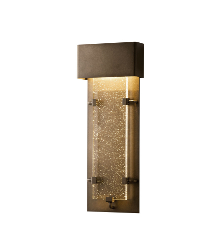 Hubbardton Forge 302501-Led-03-Ii0359 Light Ursa Small Led Outdoor Sconce Seeded Clear Glass In Mahogany