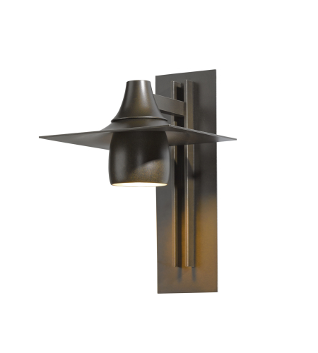 Hubbardton Forge 306567-Skt-03 1 Light Hood Large Outdoor Sconce In Mahogany