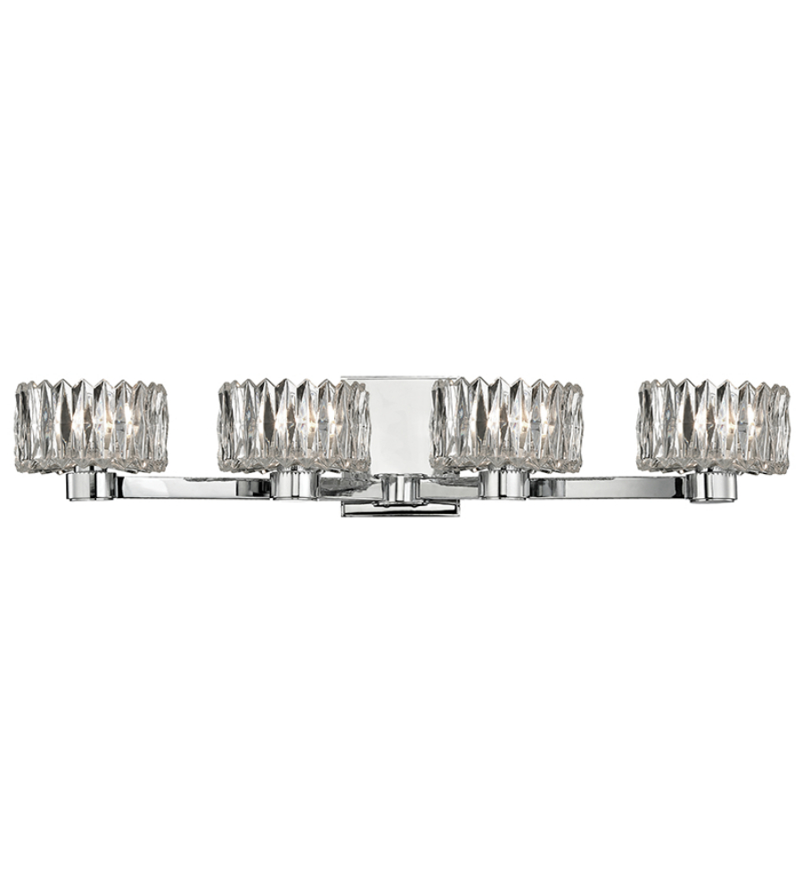 Hudson Valley 2174-PC Anson 4 Light Bath Bracket in Polished Chrome