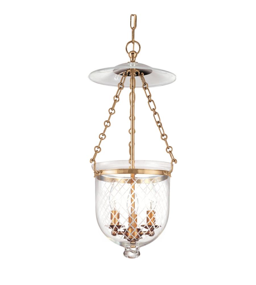 Hudson Valley Lighting Bulbs: Hudson Valley 252-Agb-C2 Hampton 3 Light Pendant In Aged