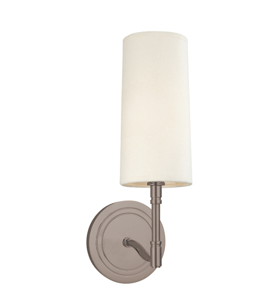 Antique Nickel Wall Sconces : Hudson Valley 361-An Dillon 1 Light Wall Sconce In Antique Nickel HVLStore.com