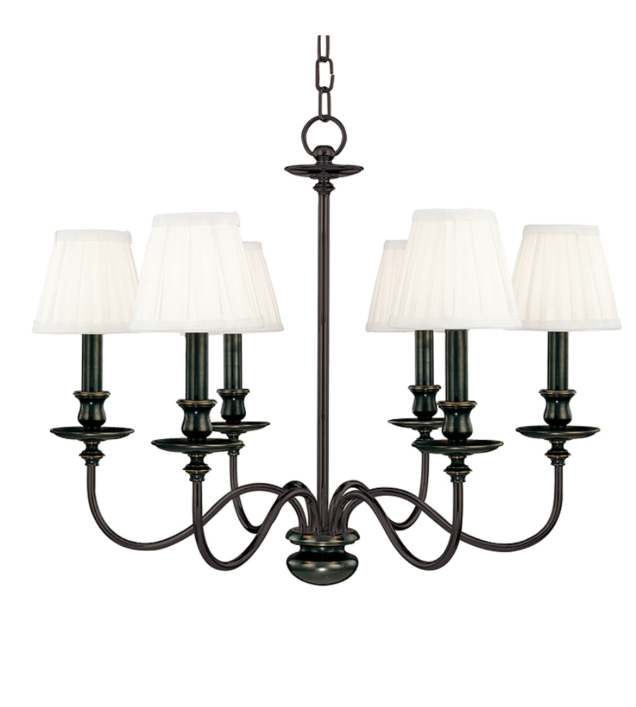 Hudson Valley Lighting Bulbs: Hudson Valley 4036-Ob Menlo Park 6 Light Chandelier In Old