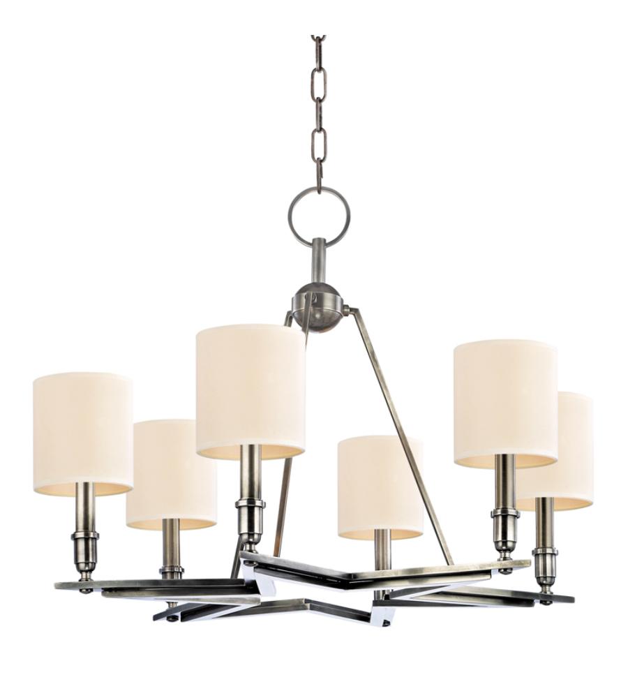 Hudson Valley Lighting Bulbs: Hudson Valley 4086-As Bethesda 6 Light Chandelier In Aged