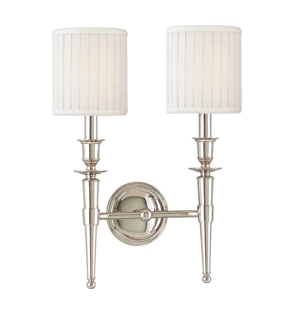 Hudson Valley 4902 Pn Abington 2 Light Wall Sconce In