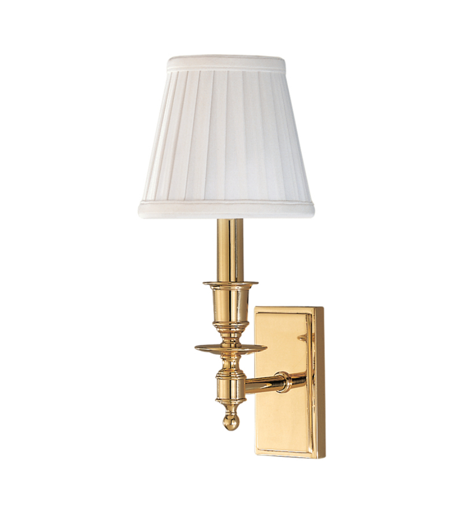 hudson valley 6801 pb ludlow 1 light wall sconce in