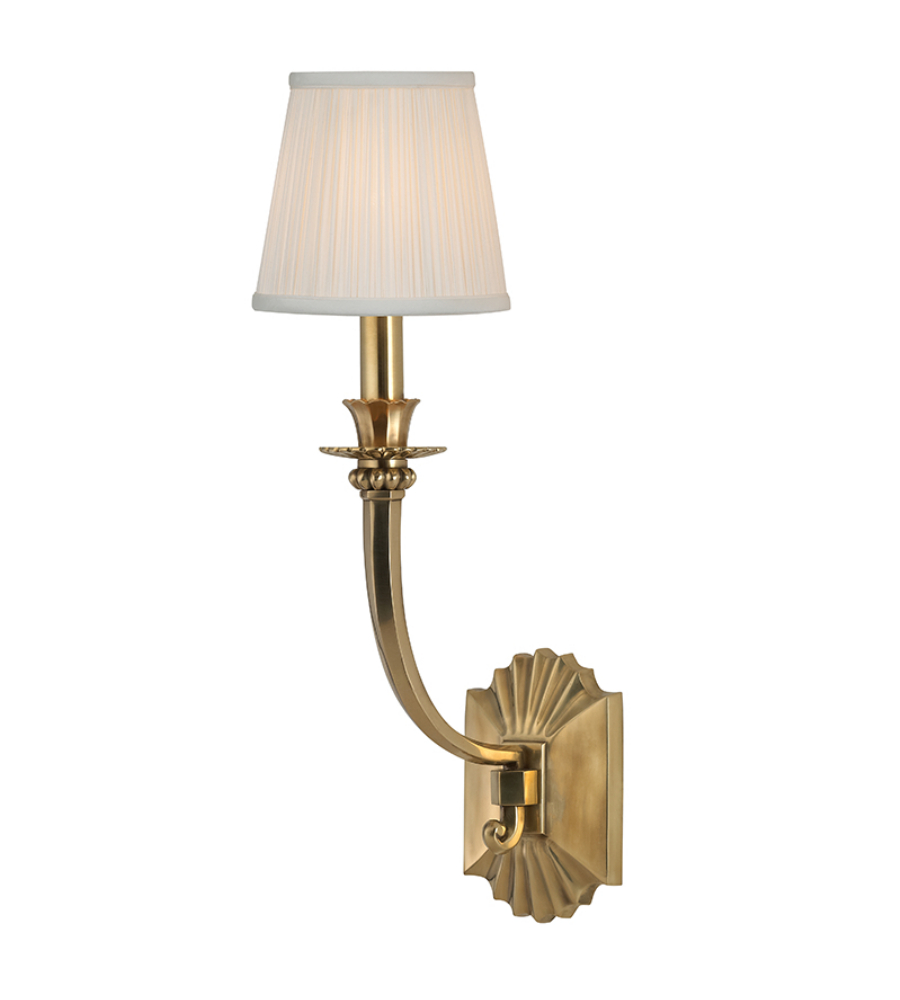 hudson valley 961 agb alden 1 light wall sconce in aged