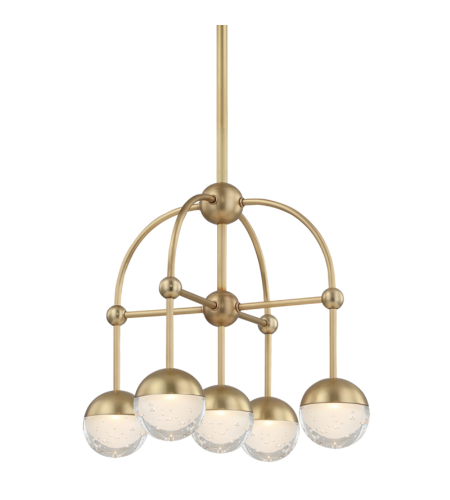 Hudson Valley 1223-AGB Boca Led Chandelier in Aged Brass