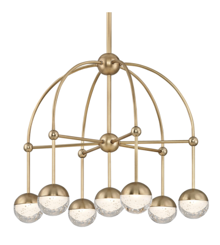 Hudson Valley 1227-AGB Boca Led Chandelier in Aged Brass