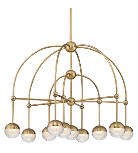 Hudson Valley 1230-AGB Boca Led Chandelier in Aged Brass