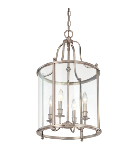 Hudson Valley 1315-Pn Mansfield 4 Light Pendant In Polished Nickel