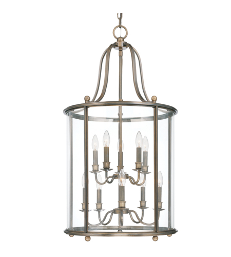 Hudson Valley 1320-Db Mansfield 10 Light Pendant In Distressed Bronze