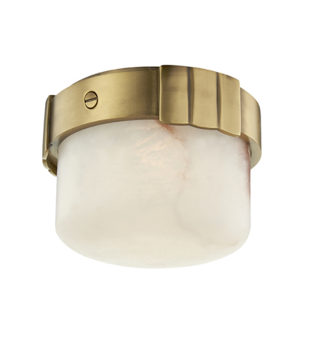 Hudson Valley 1410-AGB Beckett Led Flush Mount in Aged Brass