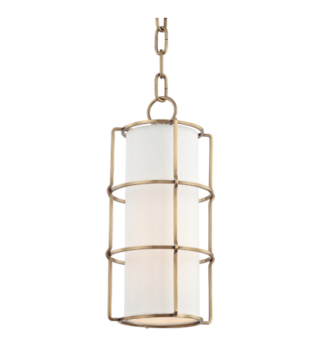 Hudson Valley 1510-AGB Sovereign 1 Light Pendant in Aged Brass