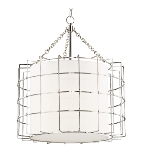 Hudson Valley 1524-PN Sovereign 3 Light Pendant in Polished Nickel