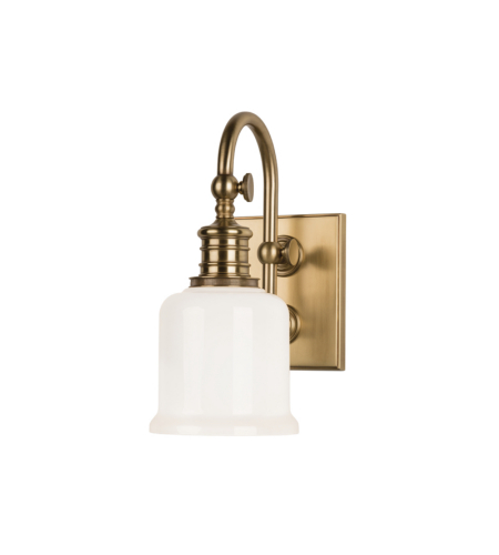 Hudson Valley 1971-AGB Keswick 1 Light Bath Bracket in Aged Brass