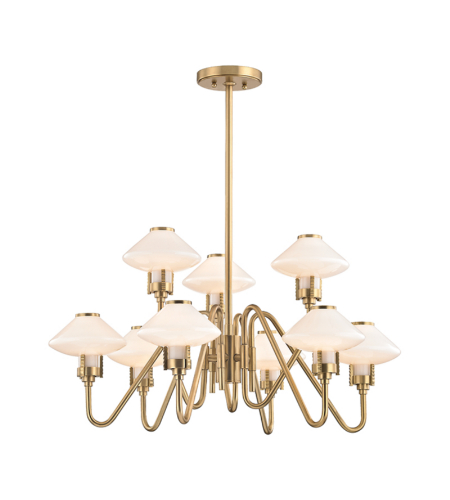 Hudson Valley 2009-Agb Knowles 9 Light Chandelier In Aged Brass