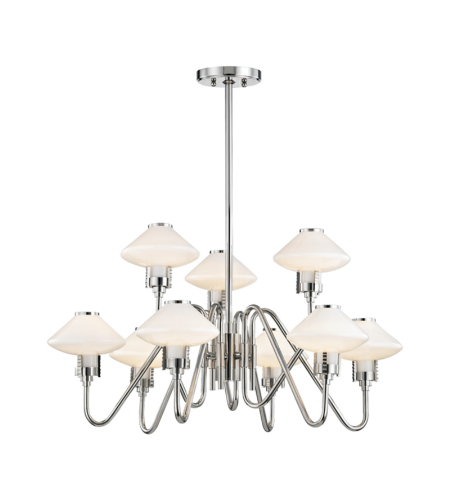 Hudson Valley 2009-Pn Knowles 9 Light Chandelier In Polished Nickel
