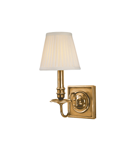 Hudson Valley 201-AGB Sheldrake 1 Light Wall Sconce in Aged Brass