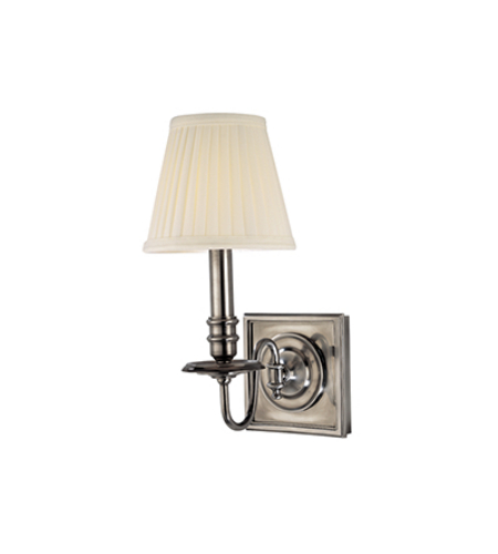 Hudson Valley 201-Hn Sheldrake 1 Light Wall Sconce In Historic Nickel