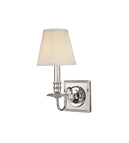 Hudson Valley 201-Pn Sheldrake 1 Light Wall Sconce In Polished Nickel