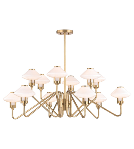 Hudson Valley 2012-Agb Knowles 12 Light Chandelier In Aged Brass