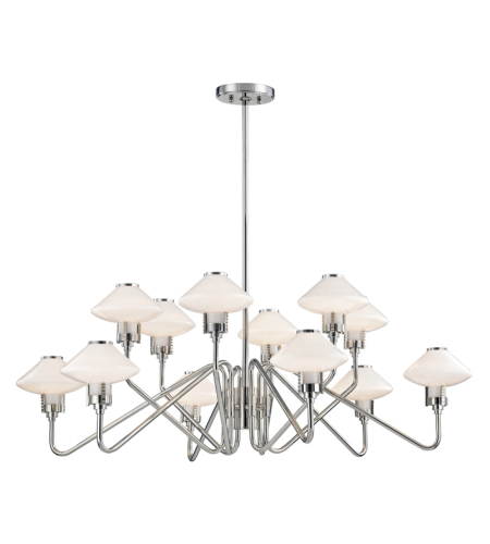 Hudson Valley 2012-Pn Knowles 12 Light Chandelier In Polished Nickel