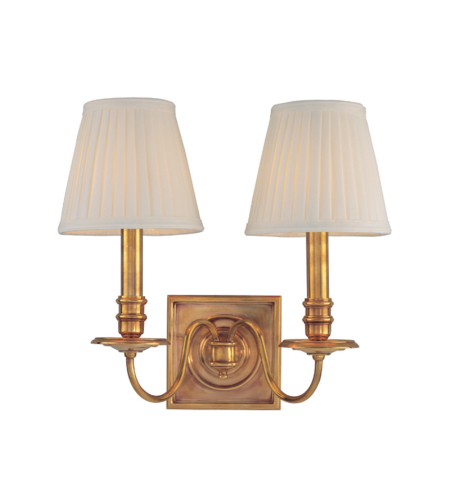 Hudson Valley 202-Agb Sheldrake 2 Light Wall Sconce In Aged Brass