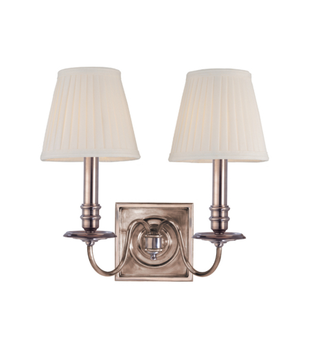 Hudson Valley 202-Hn Sheldrake 2 Light Wall Sconce In Historic Nickel