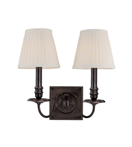 Hudson Valley 202-Ob Sheldrake 2 Light Wall Sconce In Old Bronze