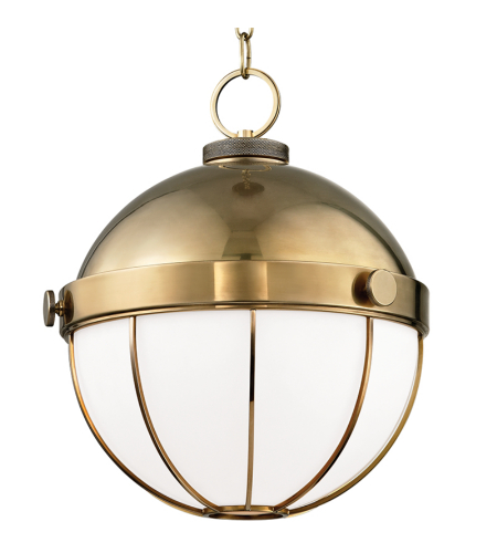 Hudson Valley 2315-Agb Sumner 1 Light Pendant In Aged Brass