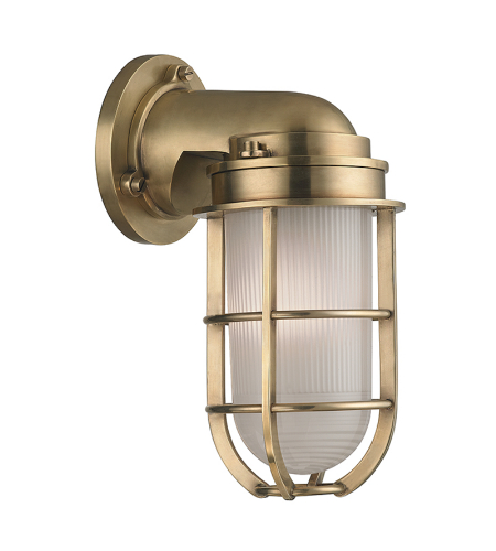 Hudson Valley 240-Agb Carson 1 Light Wall Sconce In Aged Brass