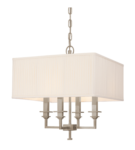 Hudson Valley 244-An Berwick 4 Light Chandelier In Antique Nickel