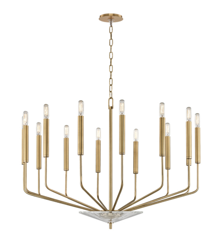 Hudson Valley 2614-Agb Gideon 14 Light Chandelier In Aged Brass