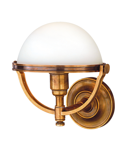 Hudson Valley 3301-Agb Stratford 1 Light Wall Sconce In Aged Brass