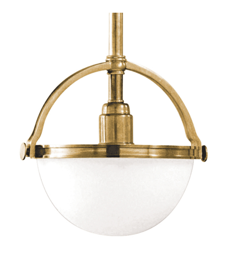 Hudson Valley 3311-Agb Stratford 1 Light Pendant In Aged Brass