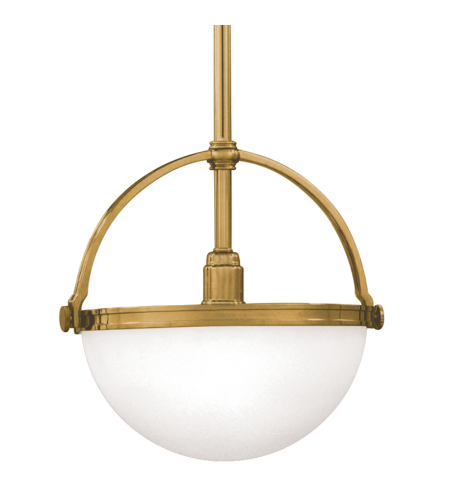 Hudson Valley 3312-Agb Stratford 1 Light Pendant In Aged Brass