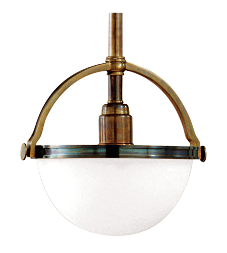 Hudson Valley 3312-Hb Stratford 1 Light Pendant In Historic Bronze