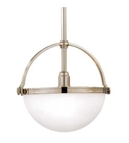 Hudson Valley 3312-Pn Stratford 1 Light Pendant In Polished Nickel
